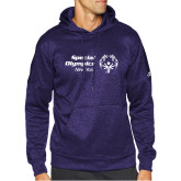 Adidas Purple Team Issue Hoodie-Primary Mark Horizontal