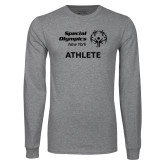 Grey Long Sleeve T Shirt-Athlete