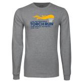 Grey Long Sleeve T Shirt-Law Enforcement Torch Run