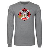 Grey Long Sleeve T Shirt-Polar Plunge