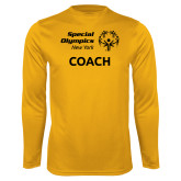 Performance Gold Longsleeve Shirt-Coach