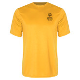 Performance Gold Tee-Primary Mark Vertical