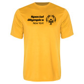 Performance Gold Tee-Primary Mark Horizontal