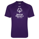 Under Armour Purple Tech Tee-Primary Mark Vertical