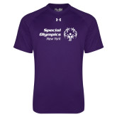 Under Armour Purple Tech Tee-Primary Mark Horizontal