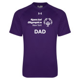Under Armour Purple Tech Tee-Dad