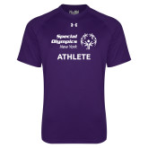 Under Armour Purple Tech Tee-Athlete