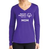 Ladies Syntrel Performance Purple Longsleeve Shirt-Mom