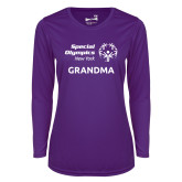Ladies Syntrel Performance Purple Longsleeve Shirt-Grandma