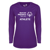 Ladies Syntrel Performance Purple Longsleeve Shirt-Athlete
