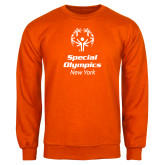 Orange Fleece Crew-Primary Mark Vertical
