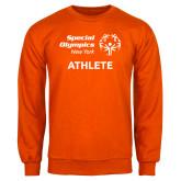 Orange Fleece Crew-Athlete