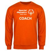 Orange Fleece Crew-Coach