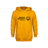 Youth Gold Fleece Hoodie-Primary Mark Horizontal