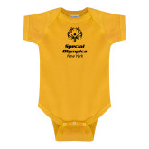Gold Infant Onesie-Primary Mark Vertical