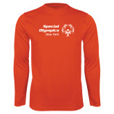 Performance Orange Longsleeve Shirt-Primary Mark Horizontal