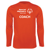 Performance Orange Longsleeve Shirt-Coach