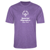 Performance Purple Heather Contender Tee-Primary Mark Vertical