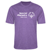 Performance Purple Heather Contender Tee-Primary Mark Horizontal