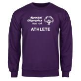 Purple Fleece Crew-Athlete