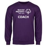 Purple Fleece Crew-Coach