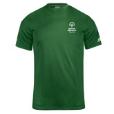 Russell Core Performance Dark Green Tee-Primary Mark Vertical