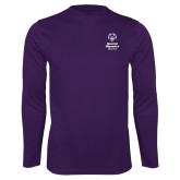 Performance Purple Longsleeve Shirt-Primary Mark Vertical
