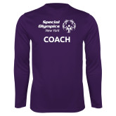 Performance Purple Longsleeve Shirt-Coach