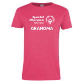 Ladies Fuchsia T Shirt-Grandma