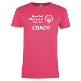 Ladies Fuchsia T Shirt-Coach
