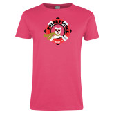 Ladies Fuchsia T Shirt-Polar Plunge