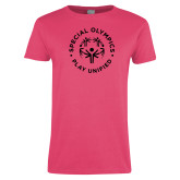 Ladies Fuchsia T Shirt-Play Unified
