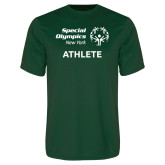 Performance Dark Green Tee-Athlete