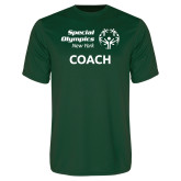Performance Dark Green Tee-Coach