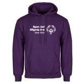 Purple Fleece Hoodie-Primary Mark Horizontal