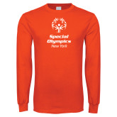 Orange Long Sleeve T Shirt-Primary Mark Vertical