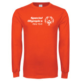 Orange Long Sleeve T Shirt-Primary Mark Horizontal