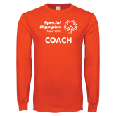Orange Long Sleeve T Shirt-Coach