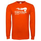 Orange Long Sleeve T Shirt-Law Enforcement Torch Run