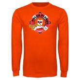 Orange Long Sleeve T Shirt-Polar Plunge