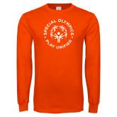 Orange Long Sleeve T Shirt-Play Unified