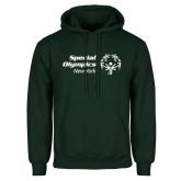 Dark Green Fleece Hood-Primary Mark Horizontal