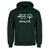 Dark Green Fleece Hood-Athlete