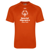Under Armour Orange Tech Tee-Primary Mark Vertical
