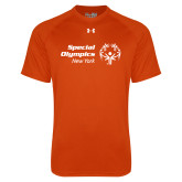 Under Armour Orange Tech Tee-Primary Mark Horizontal
