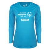 Ladies Syntrel Performance Light Blue Longsleeve Shirt-Mom