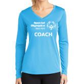Ladies Syntrel Performance Light Blue Longsleeve Shirt-Coach