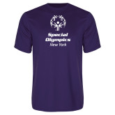 Performance Purple Tee-Primary Mark Vertical