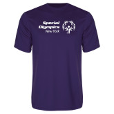 Performance Purple Tee-Primary Mark Horizontal