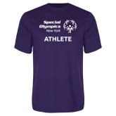 Performance Purple Tee-Athlete